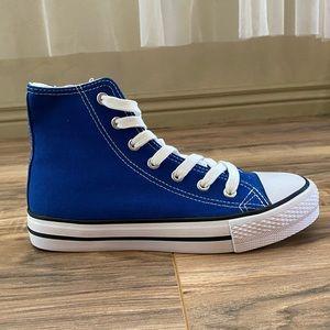 Royal blue high top sneaker
